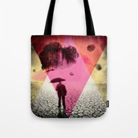 dessert Tote Bags featuring DESSERT RAIN by d.ts