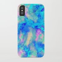 micklyn iPhone & iPod Cases featuring Electrify Ice Blue by Amy Sia