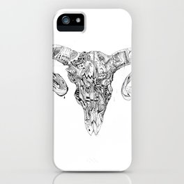 Wicked Goat Skull iPhone Case