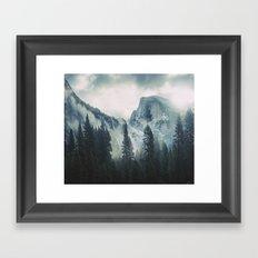 Cross Mountains II Framed Art Print