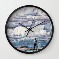 depression Wall Clocks featuring Depression by Rothko