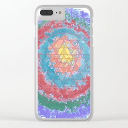Be Like Water Sri Yantra Clear iPhone Case