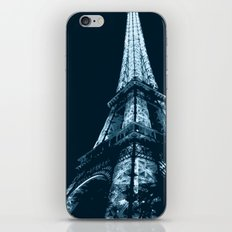 Eiffel Tower, blue iPhone & iPod Skin
