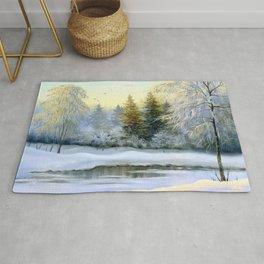Beautiful Winter Painting Rug