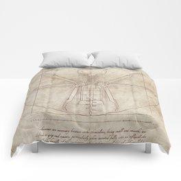 Da Vinci's Real Screw Invention Comforters