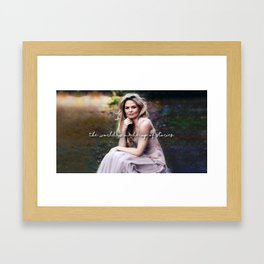 The world is made up of stories. Framed Art Print