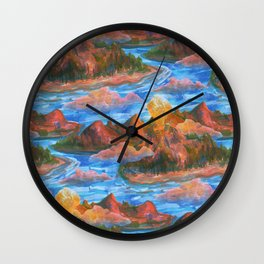 volcano pattern Wall Clock