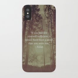 Sufficiency iPhone Case