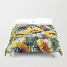 Sunflowers Forever Duvet Cover