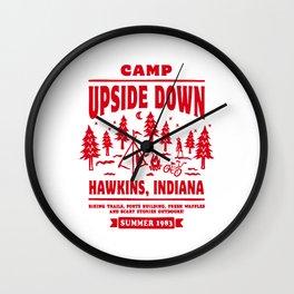 camp upside down Wall Clock