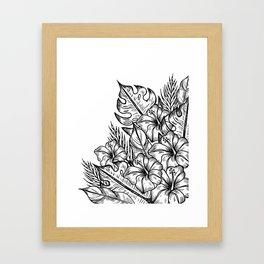 In a Tropical Junge Framed Art Print