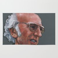 larry Area & Throw Rugs featuring Larry David by Micah Krock