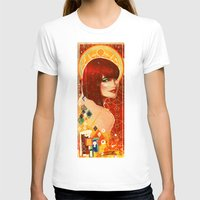 klimt T-shirts featuring KLIMT GIRL by Lorena Carvalho