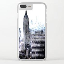 Manhattan Art Clear iPhone Case
