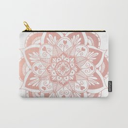 Flower Rose Gold Mandala Carry-All Pouch