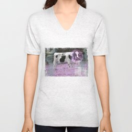 Milk comes from a bottle Unisex V-Neck