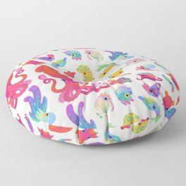 Cephalopod - pastel Floor Pillow