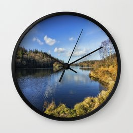 Lake Above The Village Wall Clock