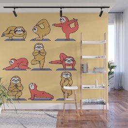 Sloth Yoga Wall Mural