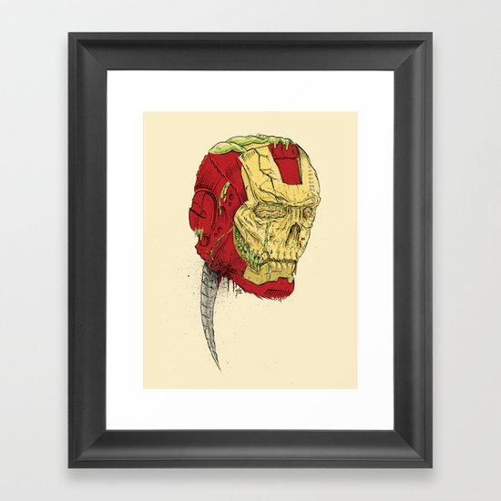 The Death of Iron Man Framed Art Print