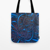 nightmare Tote Bags featuring Nightmare by Lyle Hatch