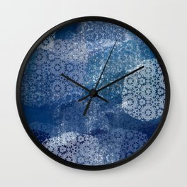 Shibori Lace Collage Wall Clock