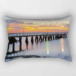 Wellington Point Jetty Sunrise Rectangular Pillow