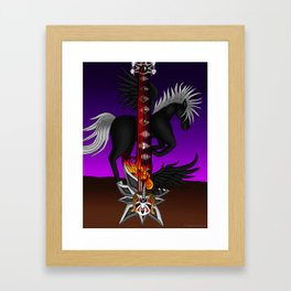 Fusion Keyblade Guitar #193 - Unicornis' Keyblade & One-Winged Angel Framed Art Print