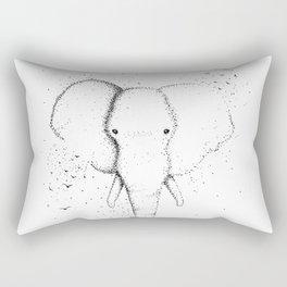 Elephant Ink Drawing Design Rectangular Pillow
