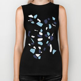 Terrazzo Spot Blues on Blush Biker Tank