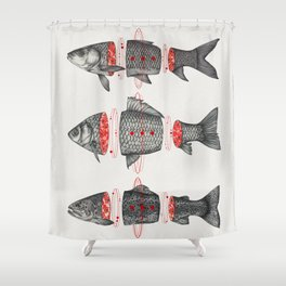 Sashimi All Shower Curtain