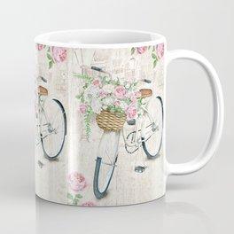 White bike & roses Coffee Mug