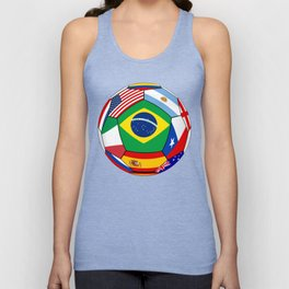 Ball With Various Flags Unisex Tank Top