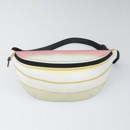 elegant pink gold beige white striped pattern Fanny Pack