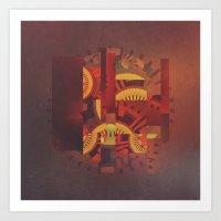 clockwork Art Prints featuring Clockwork by @jonblcksnds
