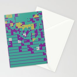 Abstract 8 Bit Art Stationery Cards