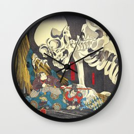 Takiyasha the Witch and the Skeleton Specter- Utagawa Kuniyoshi Wall Clock
