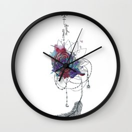 I Create Myself/ Bad Wolf Dream Catcher Wall Clock