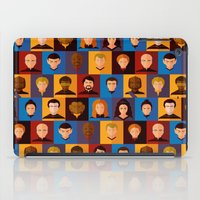 picard iPad Cases featuring STARFLEET by badOdds