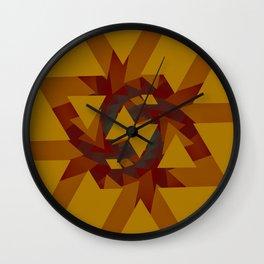 Interlocked Geometry Wall Clock