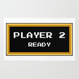 PLAYER 2 READY Rug