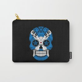 Sugar Skull with Roses and Flag of Scotland Carry-All Pouch