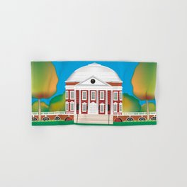 Charlottesville, Virginia - Skyline Illustration by Loose Petals Hand & Bath Towel