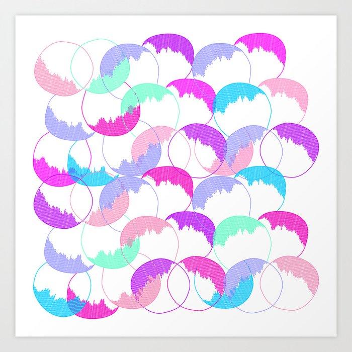 Round, round, baby Art Print