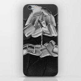 The Willow Weeps for Flight (Ivory on Black) iPhone Skin