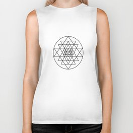 Sri Yantra - Shree Chakra Sacred Geometry Yoga Biker Tank