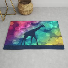 Pop Art Giraffe Silhouette Rug