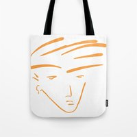 the dude Tote Bags featuring Dude by thisisddm