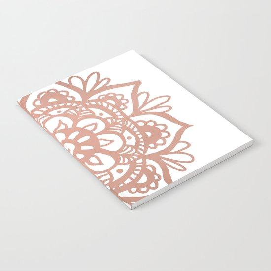 Rose Gold Mandala Notebook