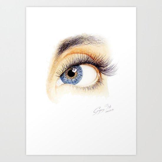 An eye Art Print